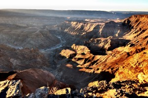 Päikeseloojang Fish River Canyonis