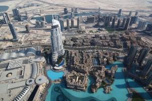 Vaade Burj Khalifa vaateplatvormilt