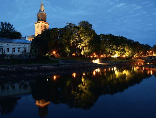 Õhtu Turu linnas. Foto:Turku Touring